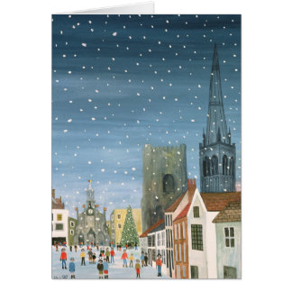 Chichester Cathedral A Snow Scene Card