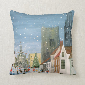 Chichester Cathedral A Snow Scene Throw Pillow