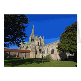 Chichester Cathedral retro poster-style card