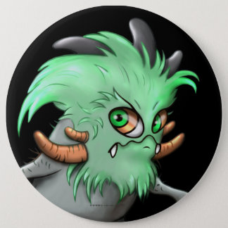 CHICHI LITE CUTE ALIEN MONSTER Colossal, 6 Inch 6 Inch Round Button