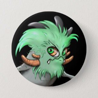 CHICHI LITE CUTE ALIEN MONSTER Large, 3 Inch 3 Inch Round Button