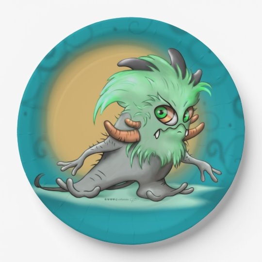 CHICHI LITE PLATE 9 INCHES Monster 9 Inch Paper Plate
