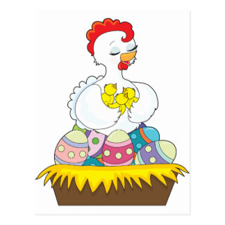 Chick and Eggs Postcard