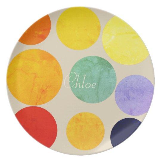 Chick Bright Fun Polka Dots Add Name Plate