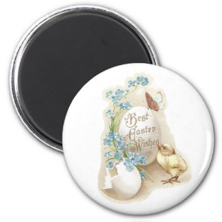 Chick, Butterfly & Eggs Vintage Easter 2 Inch Round Magnet