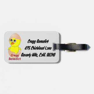Chick Cregg Benedict Luggage Tag