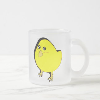 Chick Frosted Glass Coffee Mug