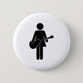 Chick Guitar 2 Inch Round Button