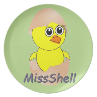 Chick  MissShell Plate