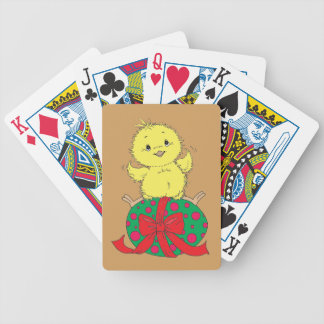 Chick on Easter Egg Bicycle Playing Cards