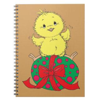 Chick on Easter Egg Notebooks
