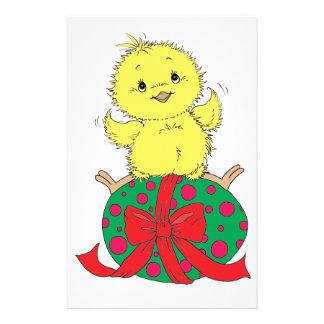 Chick on Easter Egg Stationery