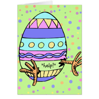 Chick SOS Easter Greeting Greeting Card