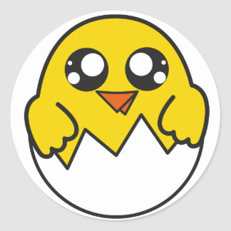 Chick sticker