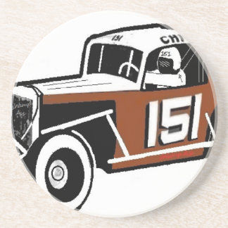 Chick Stockwell Old Time Race Car Racearena Beverage Coasters