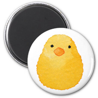 < Chick (water color) > Chicks of chicken 2 Inch Round Magnet