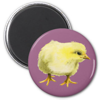 Chick Watercolor Painting Magnet