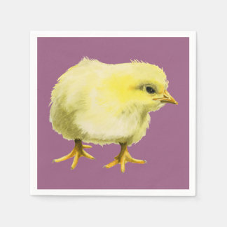 Chick Watercolor Painting Paper Napkin