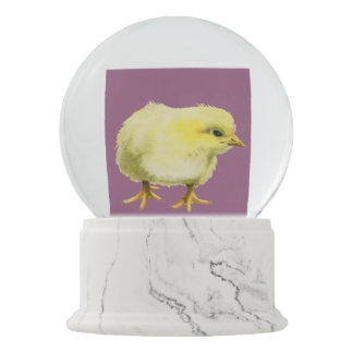 Chick Watercolor Painting Snow Globe