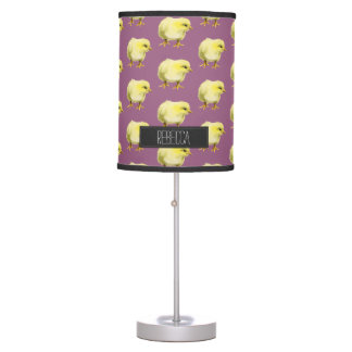 Chick Watercolor Painting with Name Table Lamp