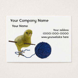 Chick who Crochets Business Card