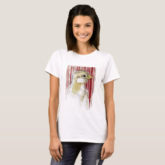 Chick with Bloody Barcode Design T-Shirt