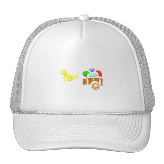 Chick with eggs trucker hat
