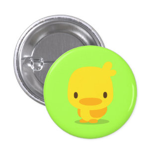 chick yellow green pins 缶バッジ