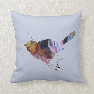 Chickadee art throw pillow