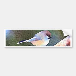 Chickadee at Twilight Bumper Sticker