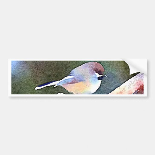 Chickadee at Twilight Bumper Sticker