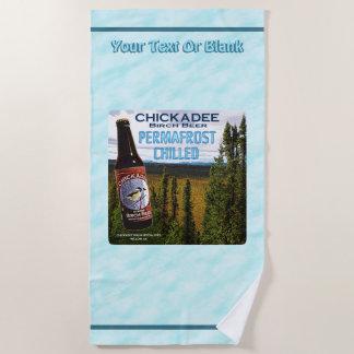Chickadee Birch Beer Beach Towel