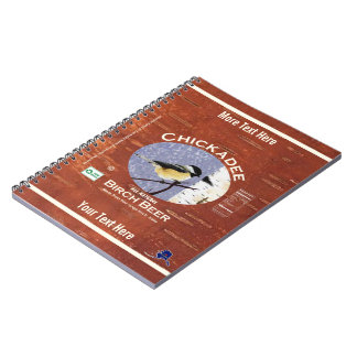 Chickadee Birch Beer Label Notebook
