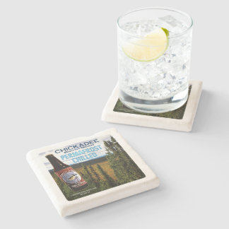 Chickadee Birch Beer Stone Coaster