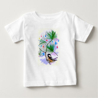 Chickadee Bird in Tree Baby Fine Jersey T-Shirt