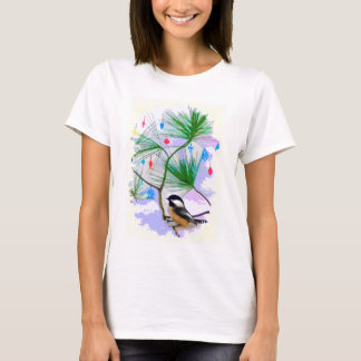 Chickadee Bird in Tree Shirt