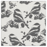 Chickadee Bird Pattern Fabric