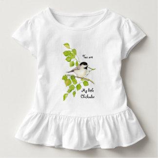 Chickadee Bird You are My Little Chickadee Quote Toddler T-shirt