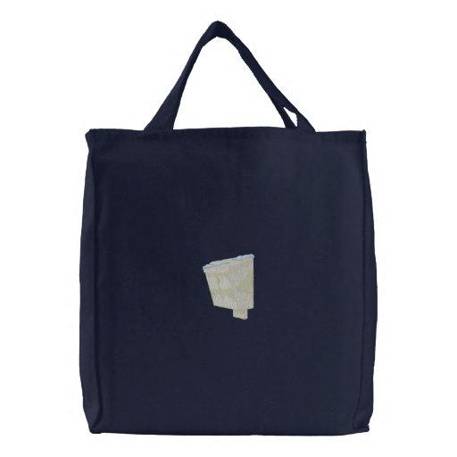 Chickadee Birdhouse Embroidered Bag