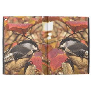 "Chickadee Birds with Pink Autumn Foliage iPad Pro 12.9"" Case"