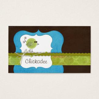Chickadee {blue} Business Cards