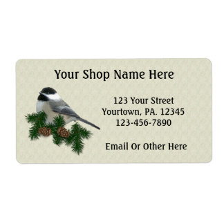 Chickadee Custom Product or Business Labels