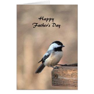 Chickadee Fathers Day Card