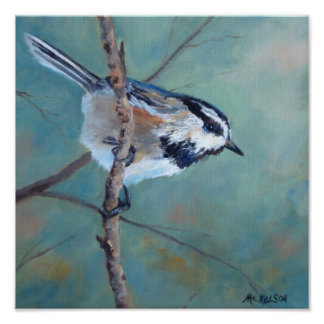 Chickadee Fine Art Bird Poster