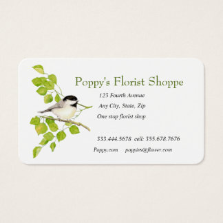 Chickadee Florist Shop Flowers Business Card