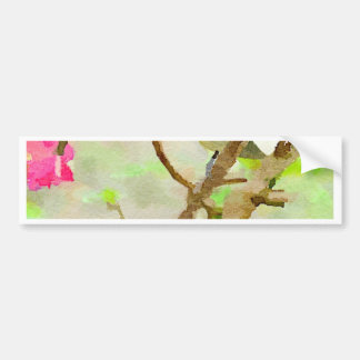 Chickadee in Cherry Tree Bumper Stickers