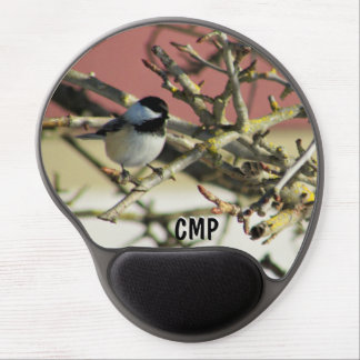 Chickadee in Pear Tree in Winter Gel Mouse Pad