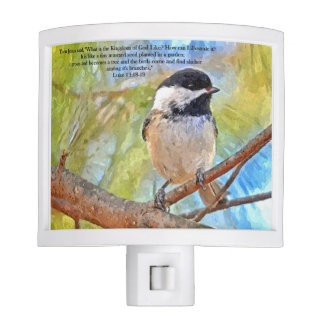 Chickadee inspirational night light