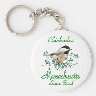 Chickadee Massachusetts State Bird Keychain