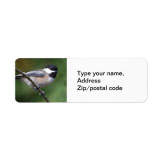 Chickadee On A Branch Return Address Label